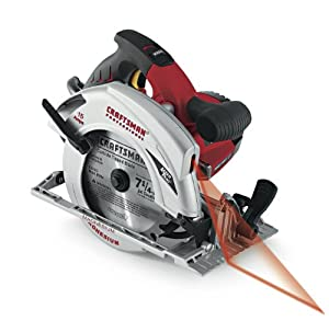 Craftsman 9-27311 Professional 15 Amp Corded 7 1/4 and Number 34 Circular Saw with Laser Trac and Dual Bulb Work Light
