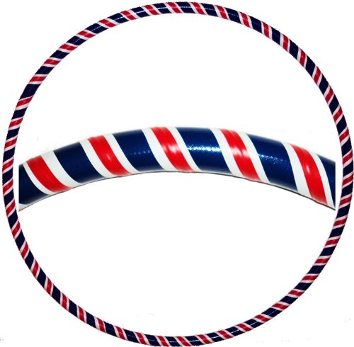 The Hoop Dance Co Hooping4Life-Union Jack M (101,60 (40 cm), con peso (625 g & per esercizi e ballo, instrcutions