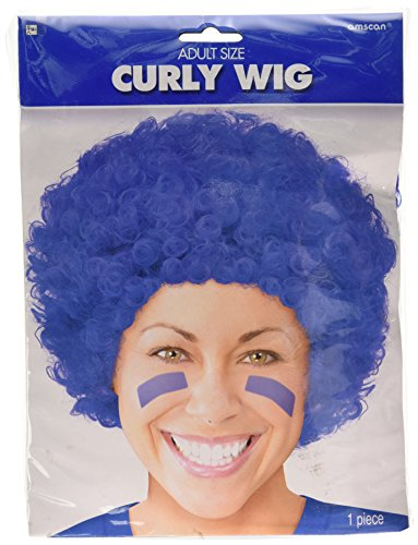 Blue Curly Wigs