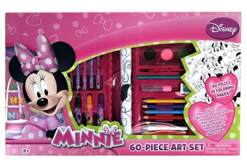 Tri-Coastal Design -Toys Minnie Mouse Art Set (60-Piece)