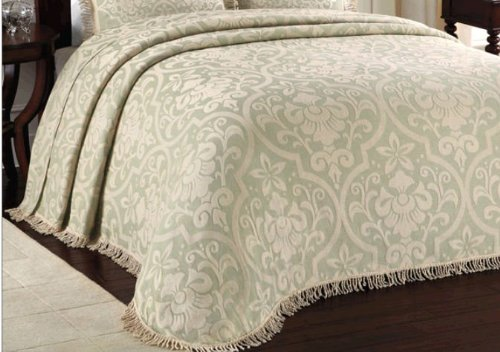 Lamont Home All Over Brocade Bedspreads Queen Set