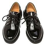 【Micopuella】 子供 靴 フォーマル シューズ エナメル オックスフォード 男の子 ジュニア キッズ レザー 履きやすい 紐靴 革 フラット 入学式 卒業式 結婚式 発表会 七五三 (23㎝)