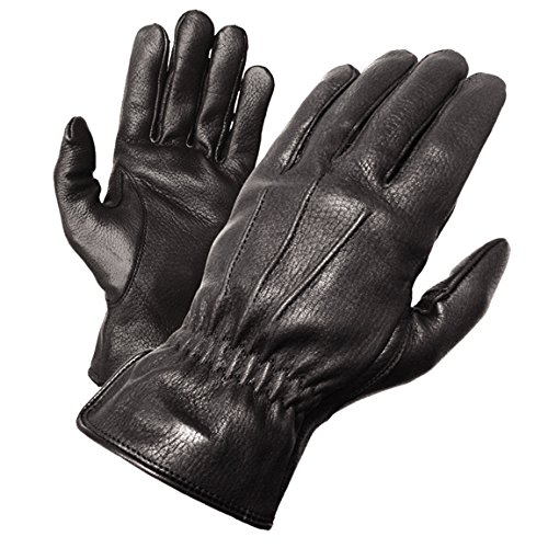 Olympia 140 Deerskin I Classic Motorcycle Gloves (Black, Large)