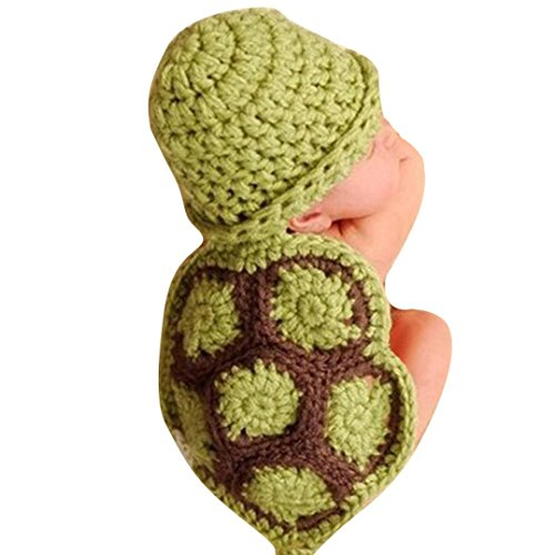 VIASA-Newborn-Baby-Tortoise-Shape-Knit-Crochet-Beanie-Hat-Photo-Props