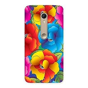 Stylish Flower Art Print Back Case Cover for Motorola Moto X Style