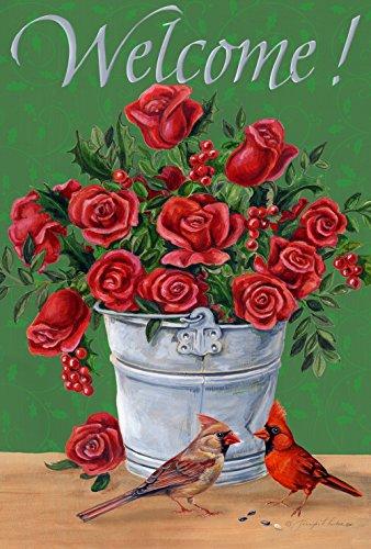 """Toland Home Garden Crimson Cardinals Decorative USA-Produced Garden Flag, 12.5 by 18"""""""