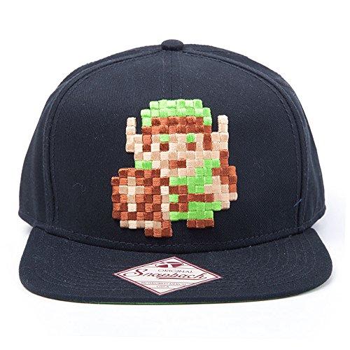 nintendo-unisex-link-8-bit-zelda-snapback-baseball-cap-schwarz-one-size-hersteller-grosse-one-grosse