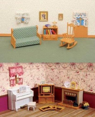 Calico critters living room accessories 2 furniture sets for Fun living room furniture