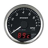 PIVOT ( ピボット ) メーター【DUAL GAUGE PRO】タコメーター (水温 / 電圧) DPT