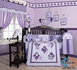 Boutique Brand New GEENNY Lavender Butterfly 13PCS Baby Nursery CRIB BEDDIN ....