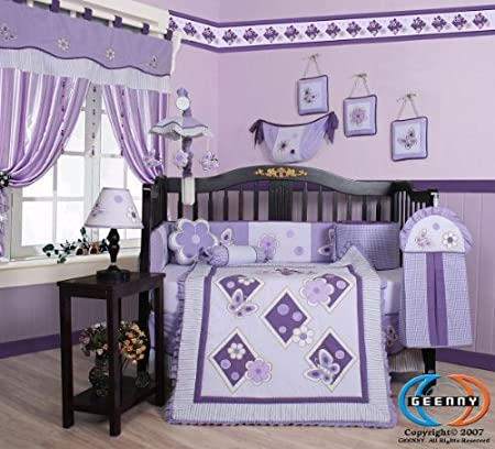 lavendar crib bedding