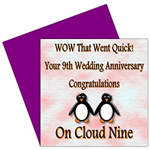 9th Wedding Anniversary Gift Ideas Uk : On Your 9th Wedding Anniversary Card - 9 Years - Pottery Anniversary ...