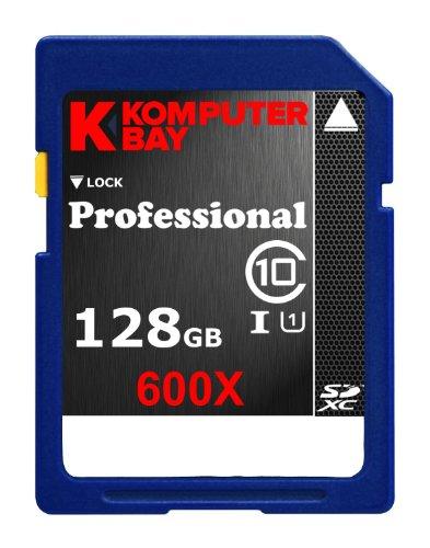 Komputerbay 128GB SDXC Secure Digital Extended Capacity Speed Class 10 UHS-I 600X Ultra-Hochgeschwindigkeits-Flash Memory Card 60MB / s schreiben 90MB/s 128 GB Lesen