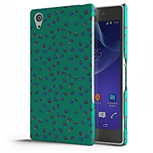 Koveru Designer Printed Protective Snap-On Durable Plastic Back Shell Case Cover for SONY XPERIA Z2 - Blue Green Ethy