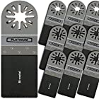 10 Pack Bi-metal Oscillating Multitool 1 3/8 Saw Blade Fits Fein Multimaster Bosch Makita Genesis Dremel Craftsman Bolt-on Nextec Ridgid Ryobi Makita Milwaukee Dewalt Rockwell Hyperlock Chicago Stainley Skil King Canada Multi Tools