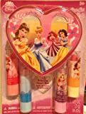 Disney Princess Lipstick with Heart Box, 4 Count