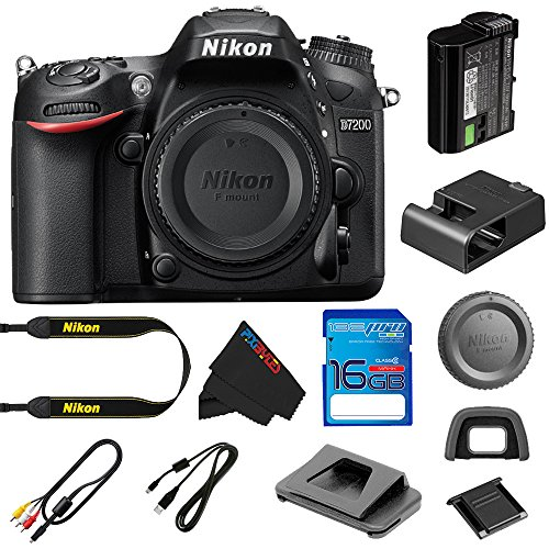Pixibytes discount duty free Nikon D7200 DSLR Camera (Body Only) + 16GB I3ePro SD Card