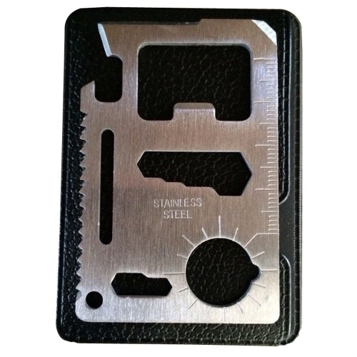 moda seya 11 Function Credit Card Size Survival Pocket Tool, Multi-Tool