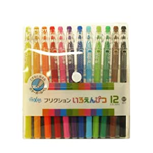 Friction pencil (small characters / 0.7mm) 12 color set LFP-156FN-12C (japan import)