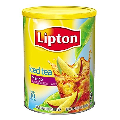 Lipton Iced Tea Mix, Mango Sweetened, 26.8 Oz (Pack Of 6)