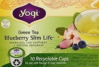 Yogi Tea - Green Tea Slim Life Recyclable K-Cups Blueberry - 10 K-Cups