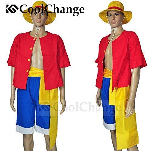 CoolChange costume di Ruffy di One Piece dopo la separazione di 2 anni dalla ciurma dei Cappelli di Paglia. Taglia: L
