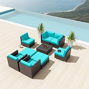 new uduka bangalore 9 pcs outdoor turquoise