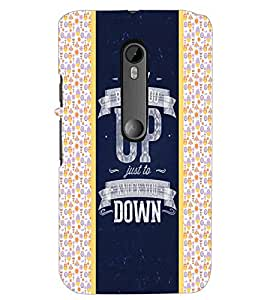 PrintDhaba Quote D-4821 Back Case Cover for MOTOROLA MOTO G3 (Multi-Coloured)