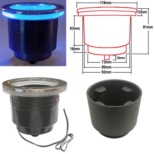 Led Cup Holder With Harness - Blue