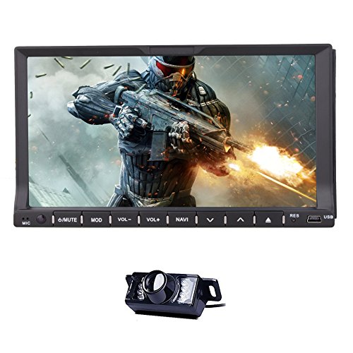 Monitorare BT Musica Car DVD Player nel mazzo stereo RDS Universale 2 DIN Autoradio Radio Automotive Audio Video Touch Screen 7Inch RDS Sub AMP Camera Telecomando