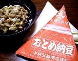 横濱風味  おとめ納豆謹製  ろう紙と松経木が醸す昭和の味 三角経木納豆 中粒90g×10個セット