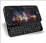iPhone 5用 bluetoothバックライト付きスライドキーボードiPhone5対応ZH-IP-BSK5-BKブラック