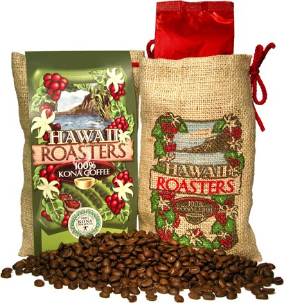 100% Kona coffee-dark versus medium roast coffee