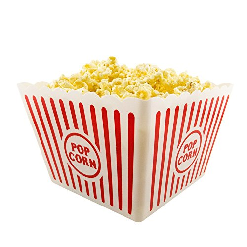 I.Q. Accessories Plastic Popcorn Tub, Square (Square Popcorn Bowl compare prices)