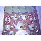 Alex Golden Heart Porcelain Tea Set