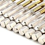 XCSOURCE® 13pcs HSS Blocage Rapide Tige Hexagonale Titane Cobalt Enduit Foret Forage Bit Set BI019