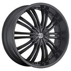 18 inch 18×7.5 2Crave No. 1 Black wheel rim; 5×4.5 5×114.3 bolt pattern with a +40 offset. Part Number: N01-1875LL40FS