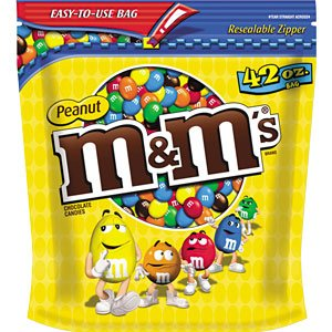 M&M's, Peanut Candies, 42oz Bag (Pack of 2)