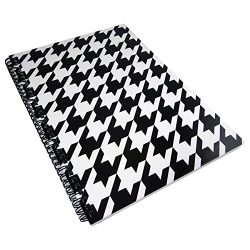 rhino-83-x-117-inches-loudmouth-a4-twin-wire-notebook-hounds-tooth-lm140002