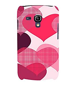 EPICCASE Big Heart Mobile Back Case Cover For Samsung Galaxy S3 Mini (Designer Case)