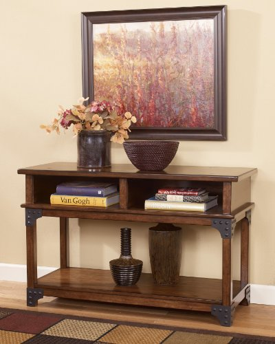 "Cheap Sofa Table/Console in MediumBrown Finish by ""Famous Brand"" Furniture (T352-4)"