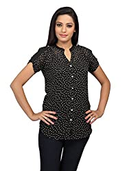 lol Black Color Printed Casual Top for women