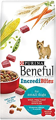 buy Beneful Dry Dog Food, Incredibites For Small Dogs With Real Beef, 15.5-Pound Bag, Pack Of 1