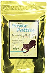 Dr. Harvey\'s Power Patties Freeze Dried Raw Green Tripe Treats for Cats, 2-Ounce Bag
