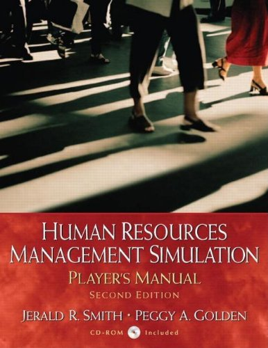 Human Resources Management Simulation: Player's Manual,...
