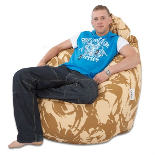 rucomfy Indoor/Outdoor Desert Camouflage Jumbo Flob a Dob© bean bags - REAL WHOPPER IN SIZE!
