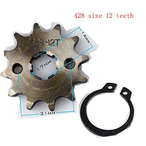 Wings Sprocket Front 428-12T 17mm Motorcycle ATV Dirtbike