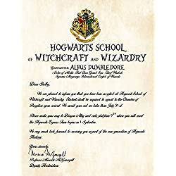 Personalized Harry Potter Acceptance Letter - Hogwarts School of Witchcraft and Wizardry