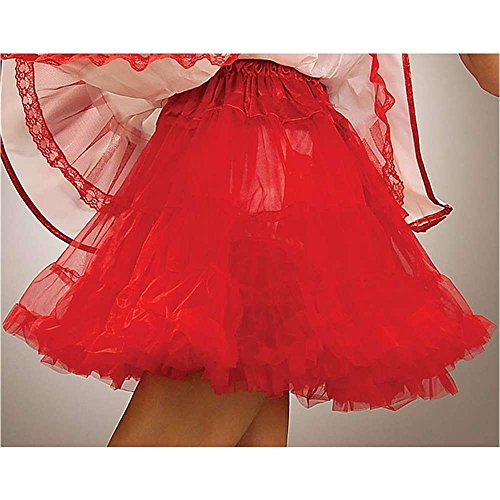 Red Adult Petticoat - One Size