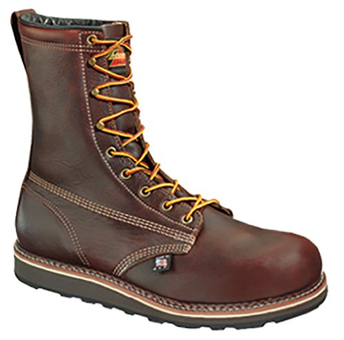 "Thorogood American Heritage 8"" Safety Toe Boot, Walnut, 11 D Us"